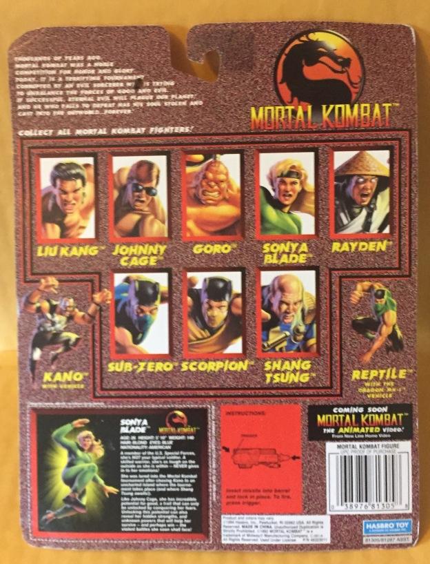 1995 mortal kombat movie edition sonya blade