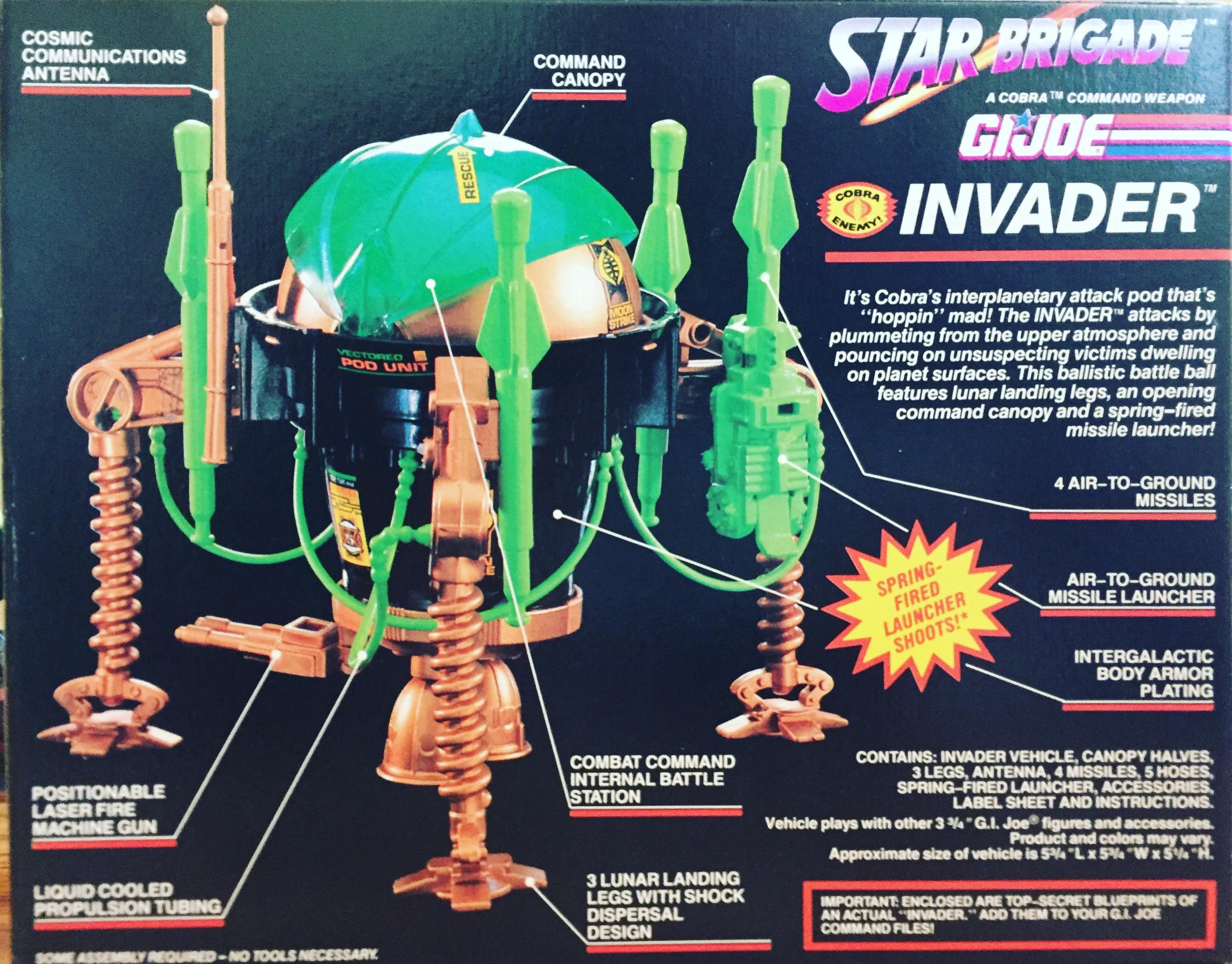 G I JOE PART 1993  Cobra Invader         Landing Leg