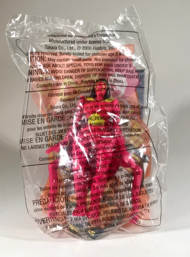 2000 Transformers Beast Machines McDonald's Happy Meal Blackarachnia, bagged