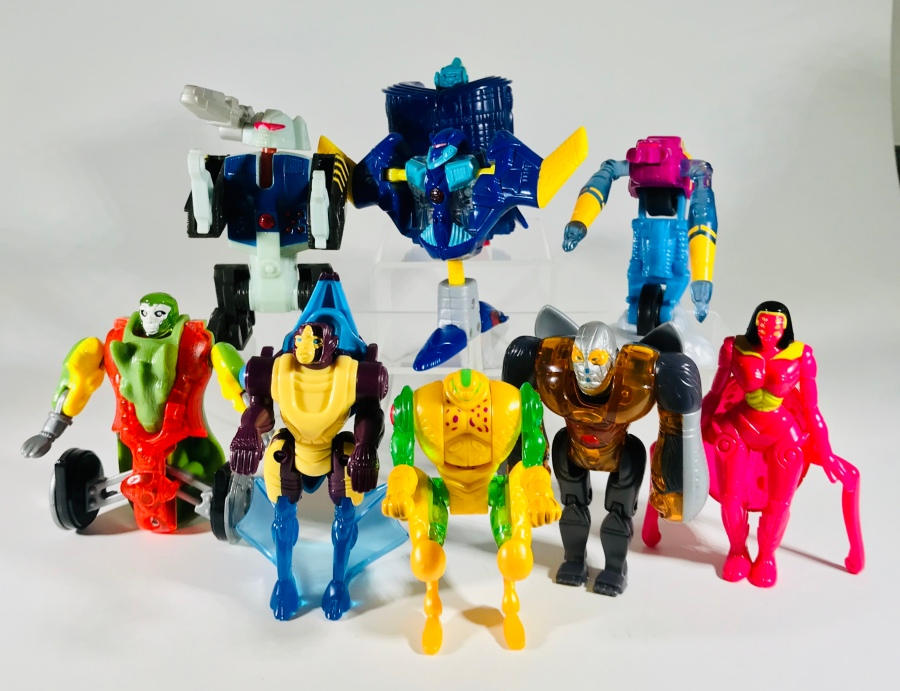 2000 Transformers Beast Machines McDonald's Happy Meal toys, robot modes