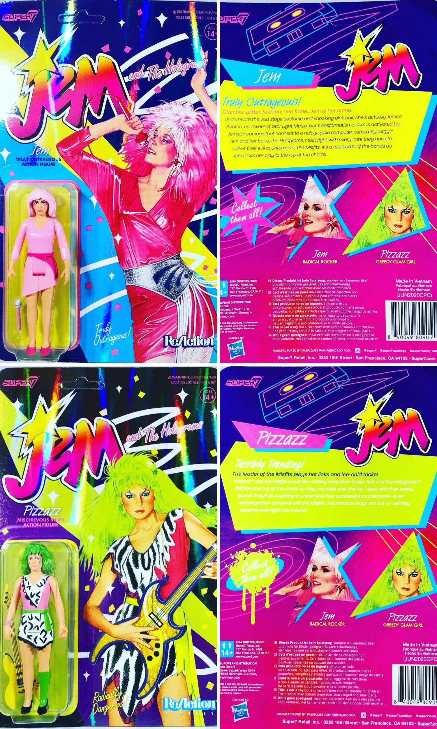 Super 7 ReAction Jem and the Holograms
