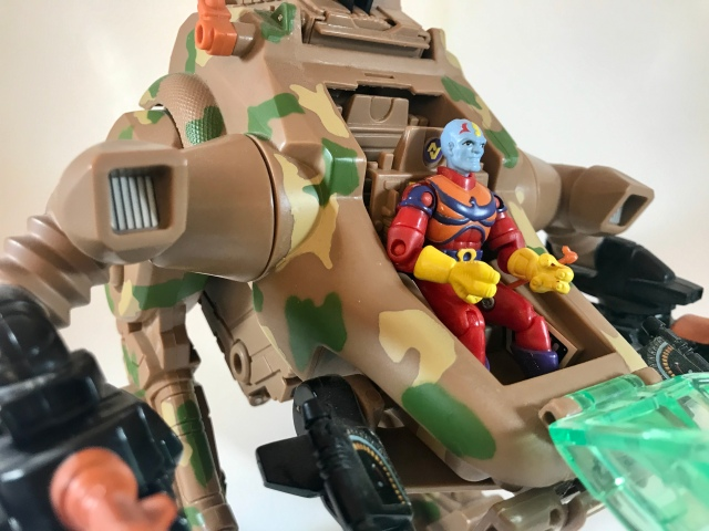 1994 Exosquad Livanus with Troop Transport E-Frame
