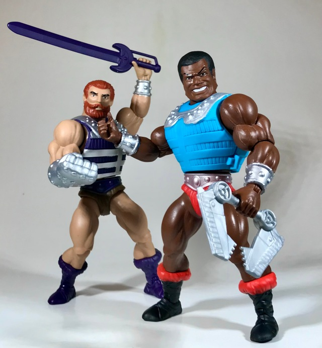 Masters of the Universe Origins Clamp Champ and Fisto