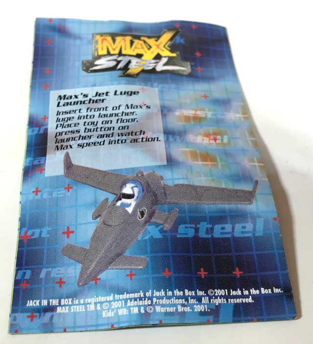 2001 Jack in the Box Kids Meal Max Steel Max's Jet Luge Launcher